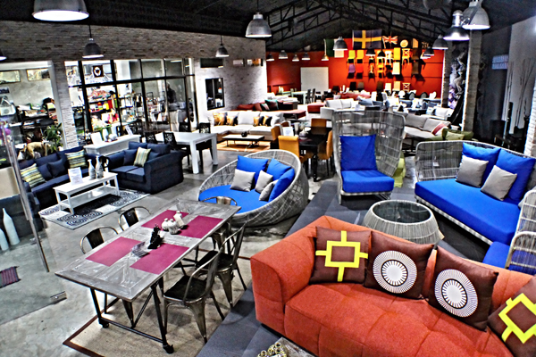 We try to create a different atmosphere in our shop for Outdoor furniture hua hin