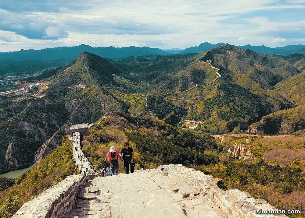 The steps of The Great Wall of China